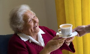 older person laughing